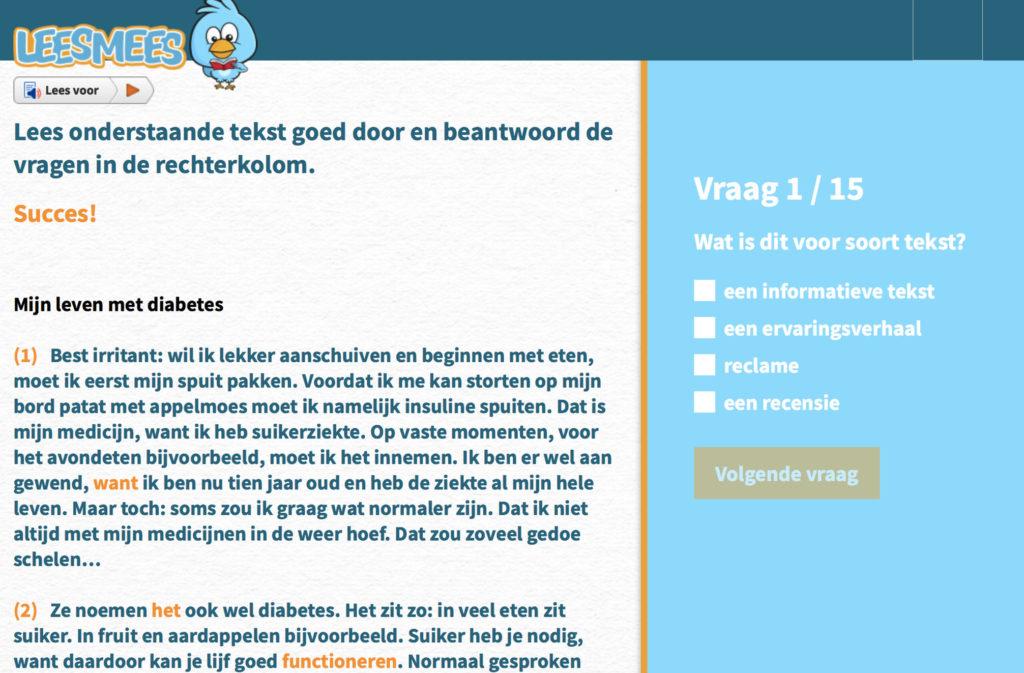 LeesMees: Vette Teksten schrijft teksten voor toetsen en oefenvragen