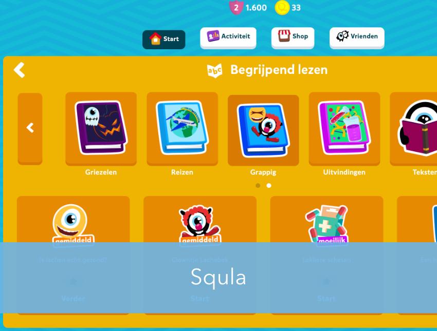 Squla: mijn werk voor deze oefenwebsite